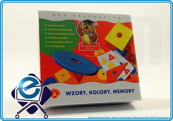 WZORY KOLORY MEMORY gra pamięciowa +5L