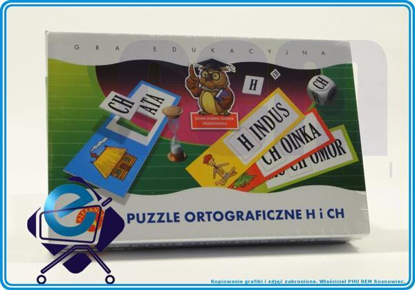 GRA EDUKACYJNA - PUZZLE ORTOGRAFICZNE H I CH +7L