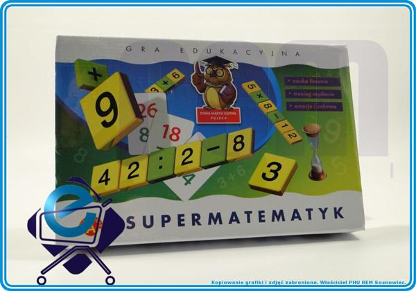 SUPERMATEMATYK - matematyczna gra edukacyjna +7L