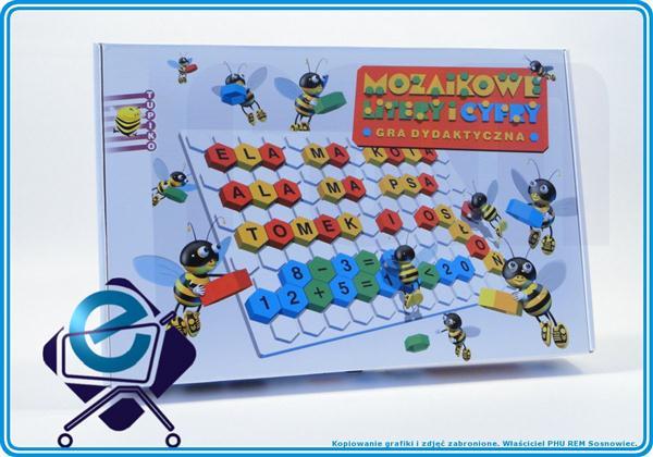MOZAIKA PlasterMiodu Litery Cyfry dydaktyczna +4L