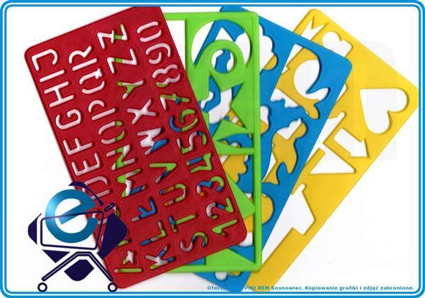 SZABLONY (1) dla dzieci do odrysowywania 4 szt +3R