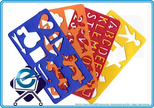SZABLONY (2) dla dzieci do odrysowywania 4 szt +3R