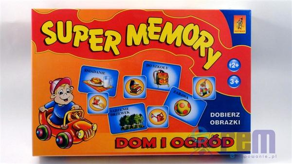 gra pamięciowa SUPER MEMORY - DOM i OGRÓD +4L