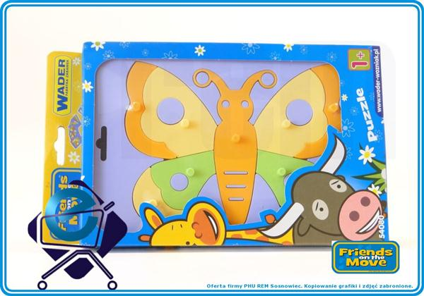 WADER 54080 FriendsOnTheMove puzzle eduk MOTYL +1R