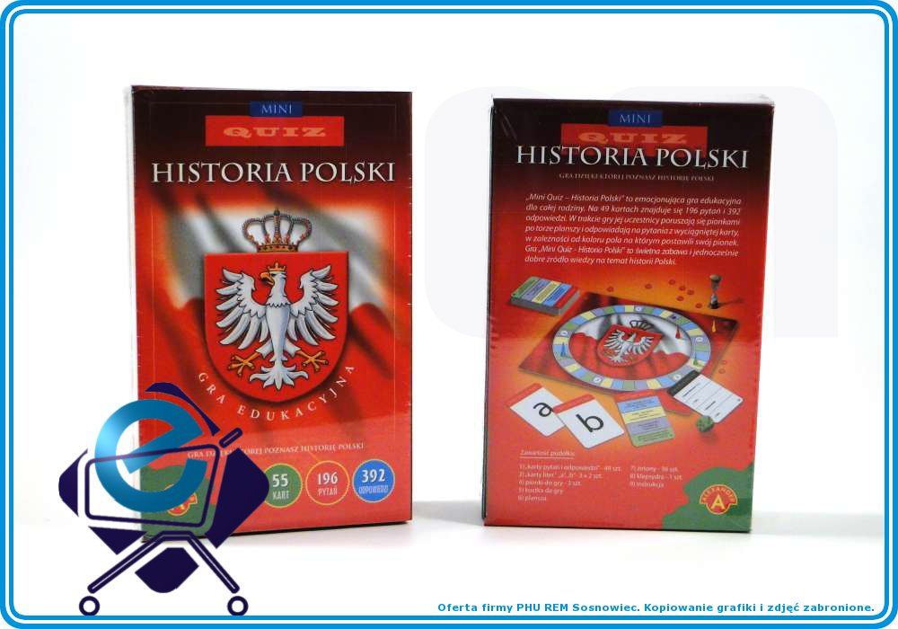 QUIZ HISTORIA POLSKI gra edukacyjna 392odp. +10L