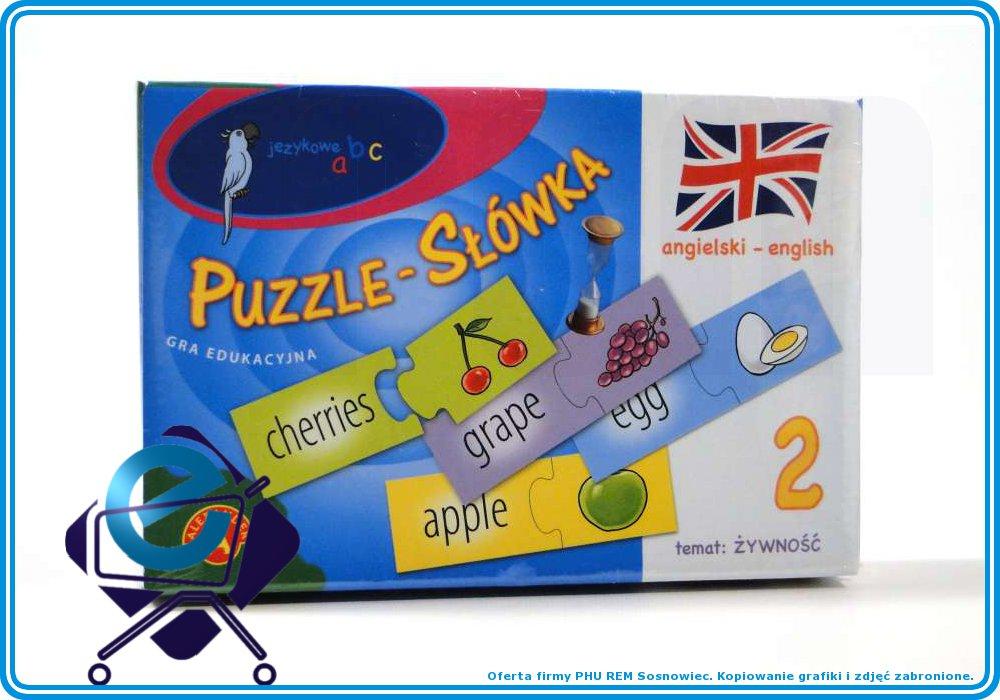 JĘZYKOWE ABC - puzzle JĘZYK ANGIELSKI żywnoœć+7L