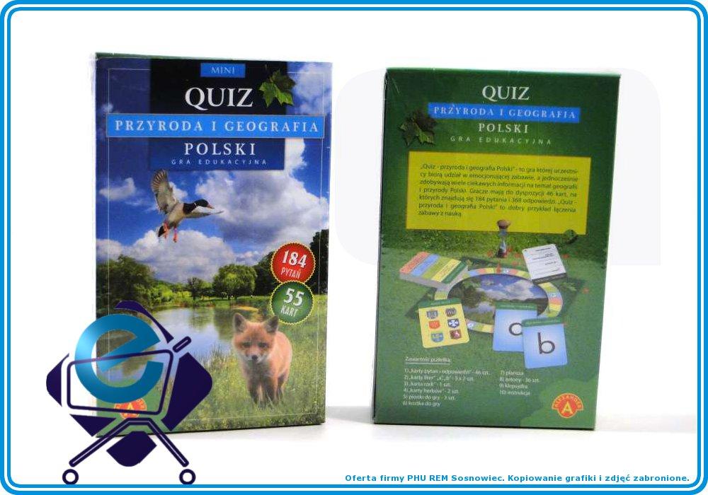 Quiz Geografia Przyroda POLSKI gra edukacyjna +10L
